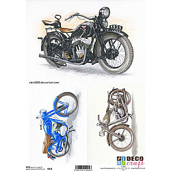 Hartie de orez A4 - Trei Motociclete