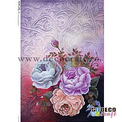 Hartie de orez A4 - Trei roze
