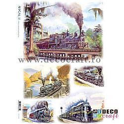 Hartie de orez A4 - Trenuri vechi