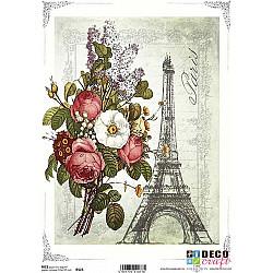 Hartie de orez A4 - Turnul cu flori