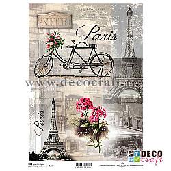 Hartie de orez A4 - Turul Parisului pe bicicleta