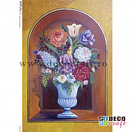 Hartie de orez A4 - Vaza cu flori
