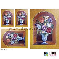 Hartie de orez A4 - Vaza cu flori (4img)