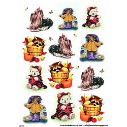 Hartie de orez - Ursi, ratoni si catei