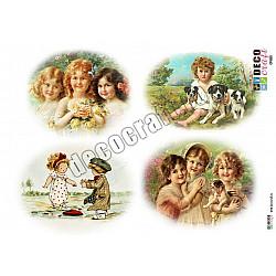 Hartie decoupage A4 - Copii