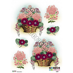Hartie decoupage A4 - Flori alese