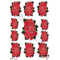 Hartie decoupage A4 - Flori exotice
