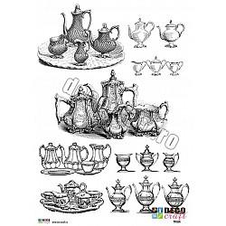 Hartie decoupage A4 - La un ceai