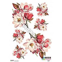 Hartie decoupage A4 - Magnolii