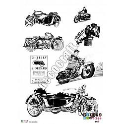 Hartie decoupage A4 - Motociclete vintage