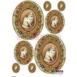 Hartie decoupage A4 - Pisica Royala
