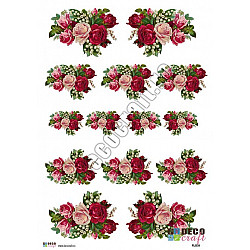 Hartie decoupage A4 - Romantic vintage