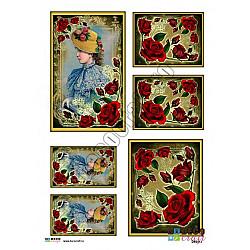 Hartie decoupage A4 - Secretul trandafirilor