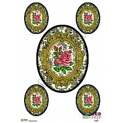 Hartie decoupage A4 - Trandafir in stil baroc