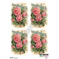 Hartie decoupage A4 - Trandafirii lui Scott