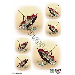 Hartie decoupage A4 - Umbrele si margarete