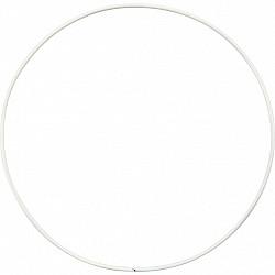 Inel metalic alb, cerc, D: 15 cm, gros 2 mm