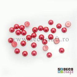 Jumatati perle 0.8 cm - Rosu, 30 buc