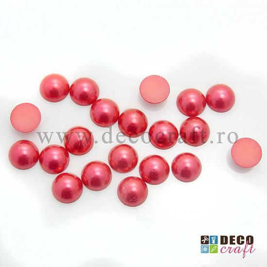 Jumatati perle 1.2 cm - Rosu, 20 buc