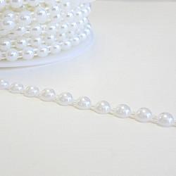 Jumatati perle la metru - 6mm, Alb