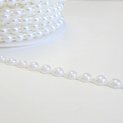 Jumatati perle la metru - 8mm, Alb
