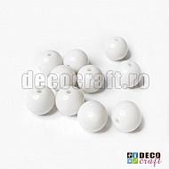 Margele acrilice - Alb - 6mm, 100buc