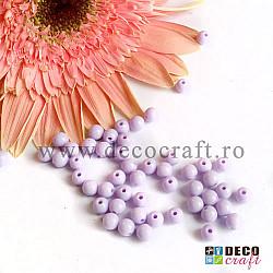 Margele acrilice - Lila - 6mm, 100buc