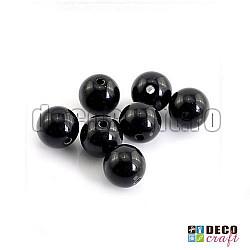 Margele acrilice - Negru - 6mm, 100buc