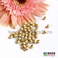 Margele acrilice Stardust 6mm - Auriu, 100buc