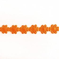 Banda flori Portocaliu, 2.5cm