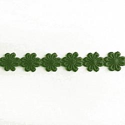 Banda flori Verde, 2.5cm