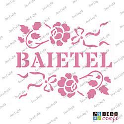 Mini-sablon - Baietel - 9x7.5 cm