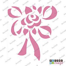 Mini-sablon - Floare cu funda - 9x7.5 cm