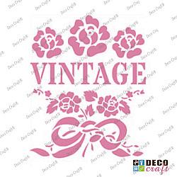 Mini-sablon - Flori vintage - 9x7.5 cm