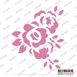 Mini-sablon - Trei roze - 9x7.5 cm