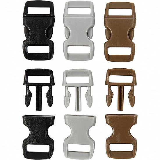 Mini Tridenti, 15x29 mm, maro, gri, negru, 100 Buc.