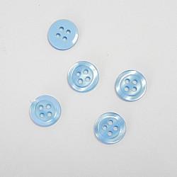 Nasturi cu patru gauri, 11 mm - Bleu
