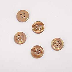 Nasturi cu patru gauri, 11 mm - Cafeniu