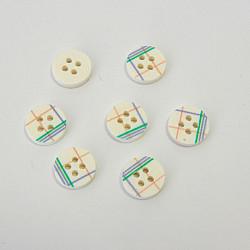 Nasturi cu patru gauri, 11 mm - Carouri