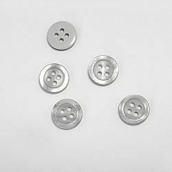 Nasturi cu patru gauri, 11 mm - Gri