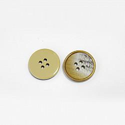 Nasturi cu patru gauri, 15 mm - Cafeniu
