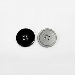 Nasturi cu patru gauri, 15 mm - Gri