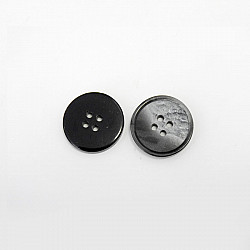 Nasturi cu patru gauri, 15 mm - Gri-inchis