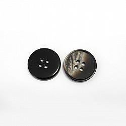 Nasturi cu patru gauri, 15 mm - Maro