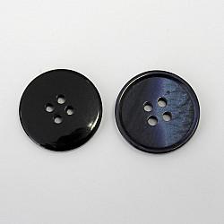 Nasturi cu patru gauri, 21 mm - Bleumarin
