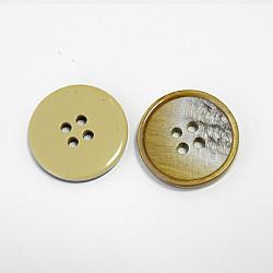 Nasturi cu patru gauri, 21 mm - Cafeniu