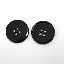Nasturi cu patru gauri, 21 mm - Negru