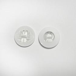 Nasturi cu picior, 14 mm - Alb cu mijloc transparent