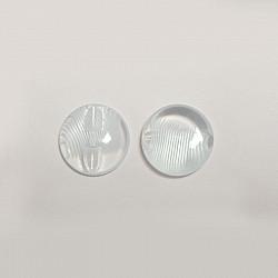Nasturi cu picior, 15 mm - Transparent cu striatii