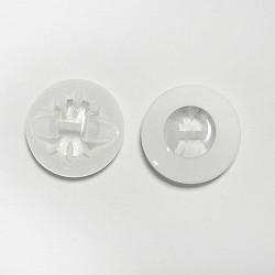 Nasturi cu picior, 19 mm - Alb cu mijloc transparent